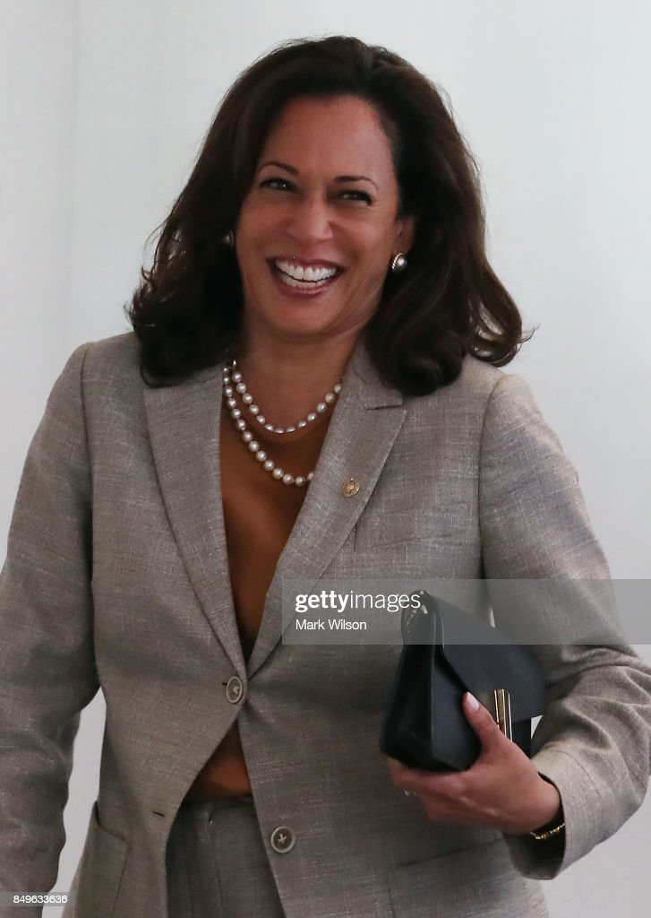 Sen. Kamala Harris (D-CA) arrives at a Senate Intelligence Committee closed door meeting, on September 19, 2017 in Washington, DC. The committee is investigating alleged Russian interference in the 2016 U.S. presidential election.