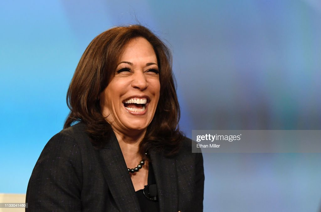 Democratic Presidential Candidate Sen. Kamala Harris Attends Campaign Events In Las Vegas : News Photo