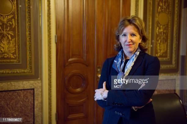 Sen Kay Hagan at the US Capitol in Washington DC on January 14 2014