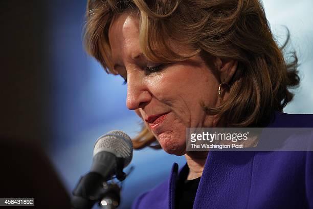 Sen Kay Hagan concedes the Senate race in North Carolina to Republican Thom Tillis in Greensboro NC on Tuesday November 4 2014