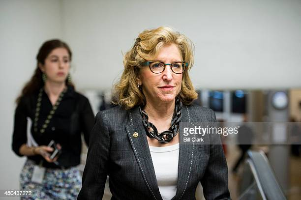 Sen Kay Hagan DNC heads to the Senate floor for a vote on Wednesday June 11 2014