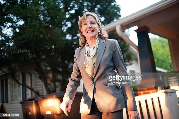 Sen Kay Hagan DNC leaves an event with volunteers and supporters at a campaign office in Statesville NC September 24 2014