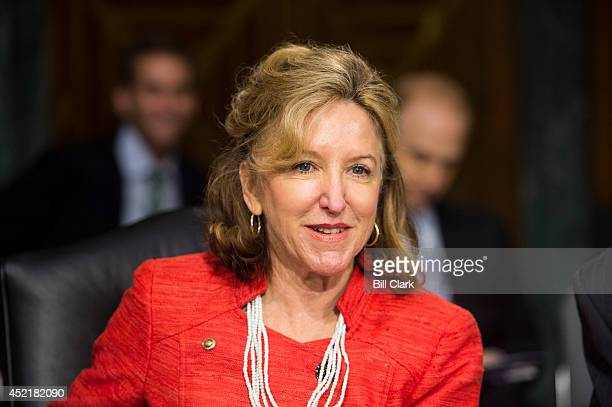 Sen Kay Hagan DNC takes her seat for the Senate Banking Housing and Urban Affairs Committee hearing on The Semiannual Monetary Policy Report to the...