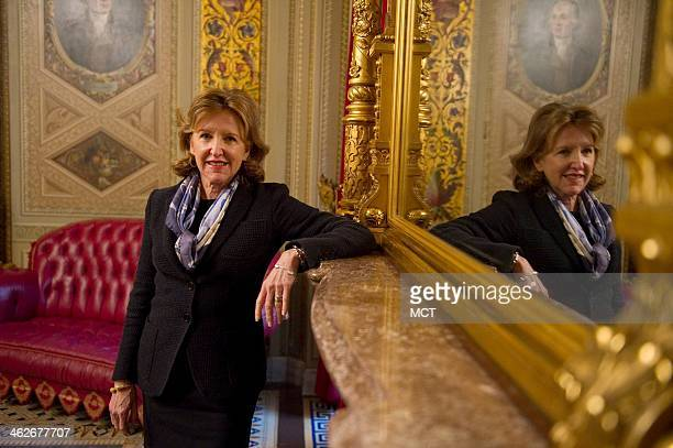 Sen Kay Hagan poses for a portrait at the US Capitol in Washington DC on Wednesday Jan 14 2014