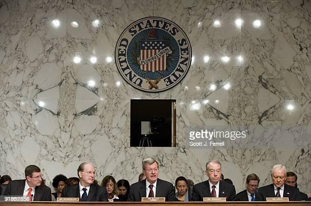 Sen Kent Conrad DND Sen John D Rockefeller IV DWVa Chairman Max Baucus DMont ranking member Charles E Grassley RIowa and Sen Orrin G Hatch RUtah...