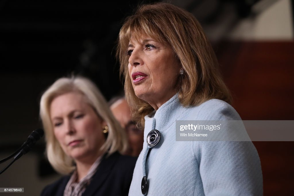 Sen. Gillibrand And Rep. Speier Discuss Sexual Harassment On Capitol Hill : News Photo