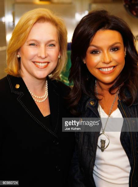 S Sen Kirsten Gillibrand and television personality Rachael Ray promote the Yumo Lunch Program at PS 89 / IS 289 on October 26 2009 in New York City