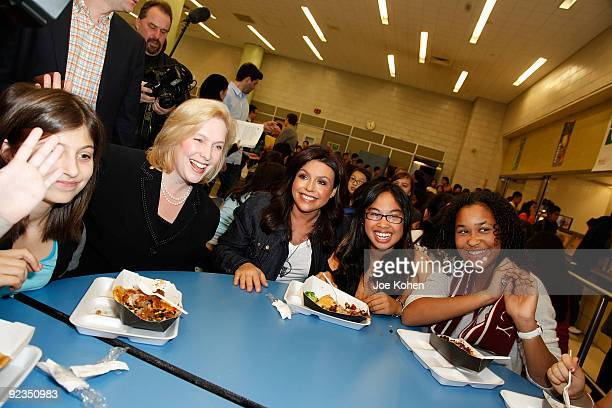 S Sen Kirsten Gillibrand and television personality Rachael Ray promote promote the Yumo Lunch Program at PS 89 / IS 289 on October 26 2009 in New...