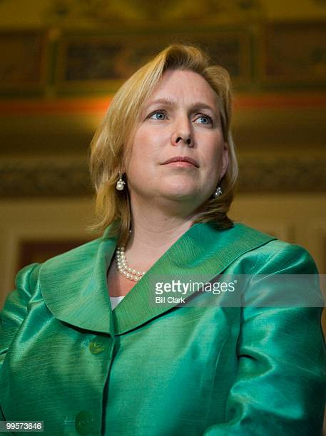 Sen Kirsten Gillibrand DNY participates with Sen John Kerry DMass and Sen Richard Lugar RInd in a news conference outside of Senate Foreign Relations...