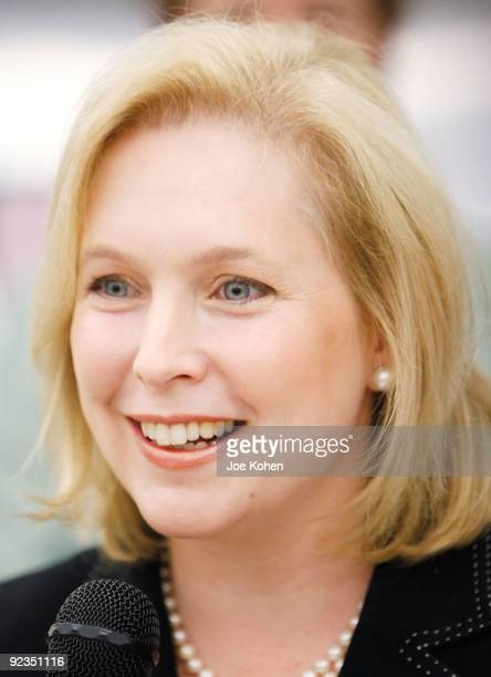 S Sen Kirsten Gillibrand promotes the Yumo Lunch Program at PS 89 / IS 289 on October 26 2009 in New York City
