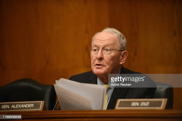 S Sen Lamar Alexander chairman of the US Senate Committee on Health Education Labor and Pensions holds a confirmation hearing for Eugene Scalia to...
