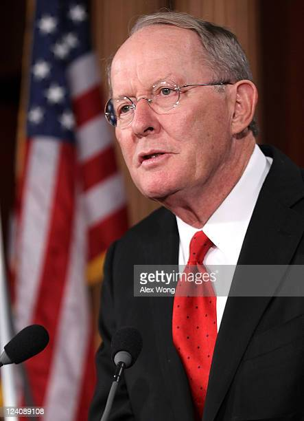S Sen Lamar Alexander speaks during a news conference September 8 2011 on Capitol Hill in Washington DC Senate Republicans held a news conference to...