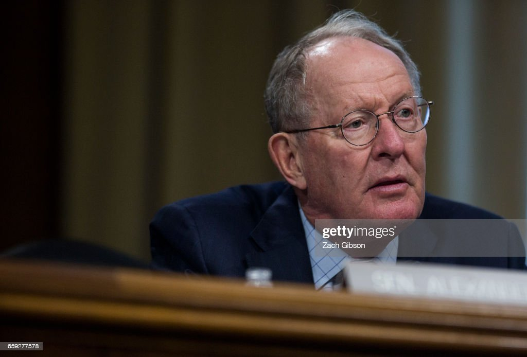 Sen. Lamar Alexander (R-TN), speaks during a Senate Energy Subcommittee hearing discussing cybersecurity threats to the U.S. electrical grid and technology advancements to maximize such threats on Capitol Hill on March 28, 2017 in Washington, D.C.