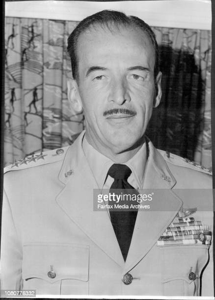 Sen. Laurence C Kuter commander of Pacific Air Forces U.S.A.F. 4 Star general C.B.E. ***** arrived at Mascot to-day. December 11, 1957. .