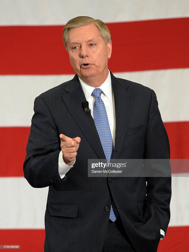 U.S. Sen. Lindsay Graham (R-SC) speaks at the First in the Nation Republican Leadership Summit April 18, 2015 in Nashua, New Hampshire. The Summit brought together local and national Republicans and was attended by all the Republicans candidates as well as those eyeing a run for the nomination.