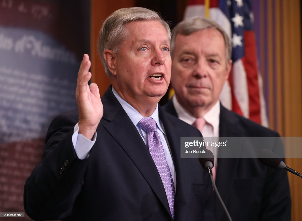 Image result for PHOTOS OF SENATORS LINDSEY GRAHAM DICK DURBIN