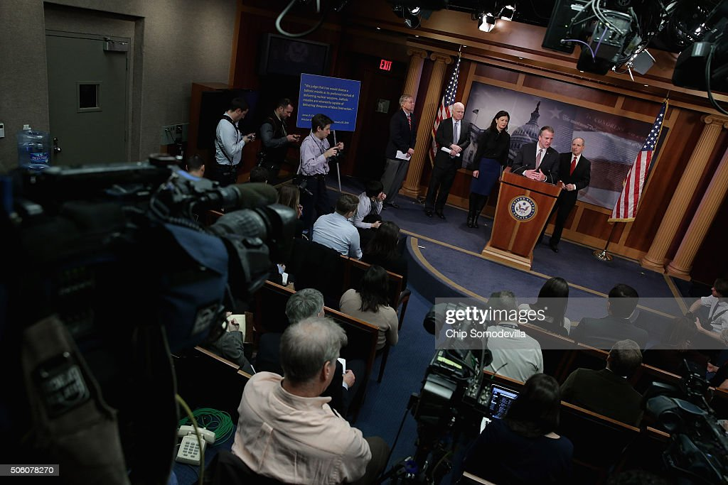 Senate Republicans Holds News Conference On Iran