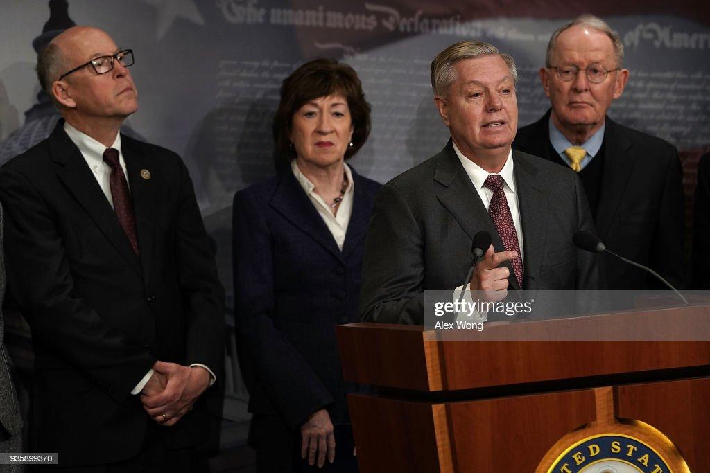 Republican Senators Hold News Conference On Health Insurance Premiums