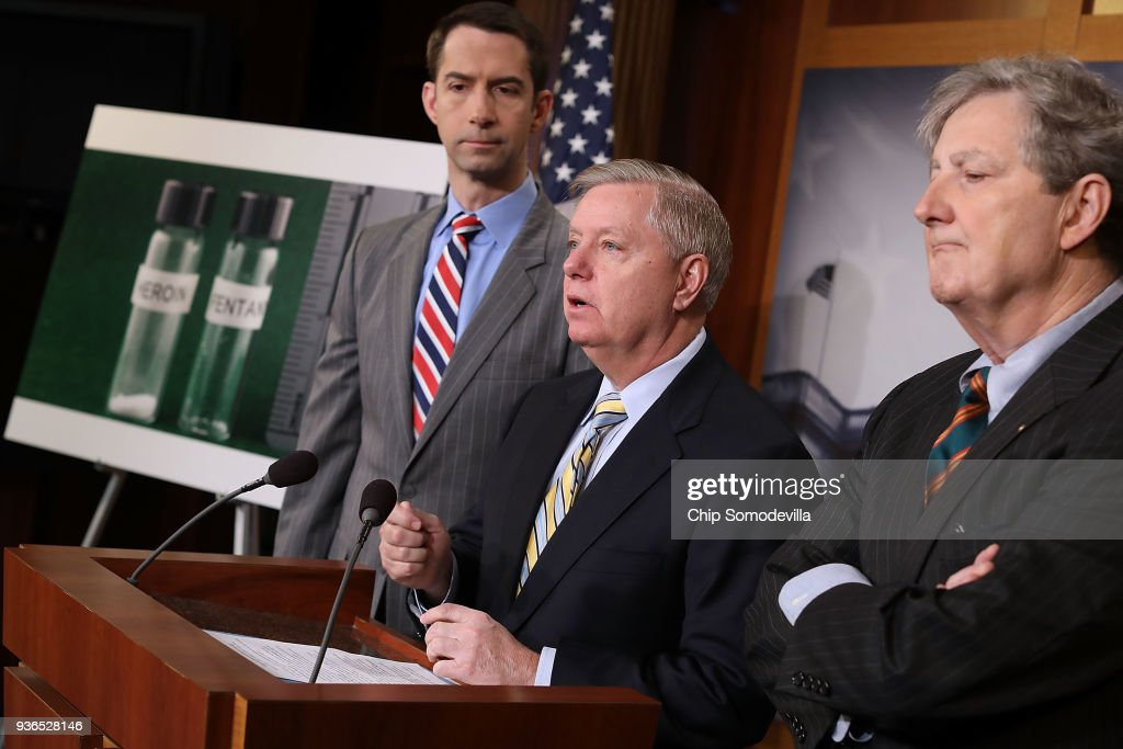 Sen. Lindsey Graham And GOP Lawmakers Hold News Conference To Discuss Opioid Epidemic Legislation