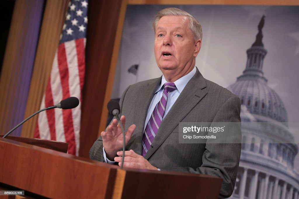 Sen. Lindsay Graham Holds News Conference Calling For NYC Terror Suspect To Be Held As Enemy Combatant