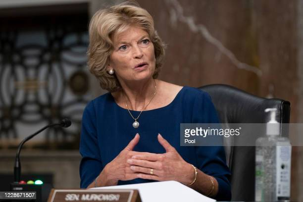 Sen. Lisa Murkowski asks a question at a hearing of the Senate Health, Education, Labor and Pensions Committee on September 23, 2020 in Washington,...