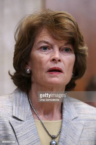Sen Lisa Murkowski chair of the Senate Appropriations Committee's Interior Environment and Related Agencies Subcommittee delivers opening remarks...