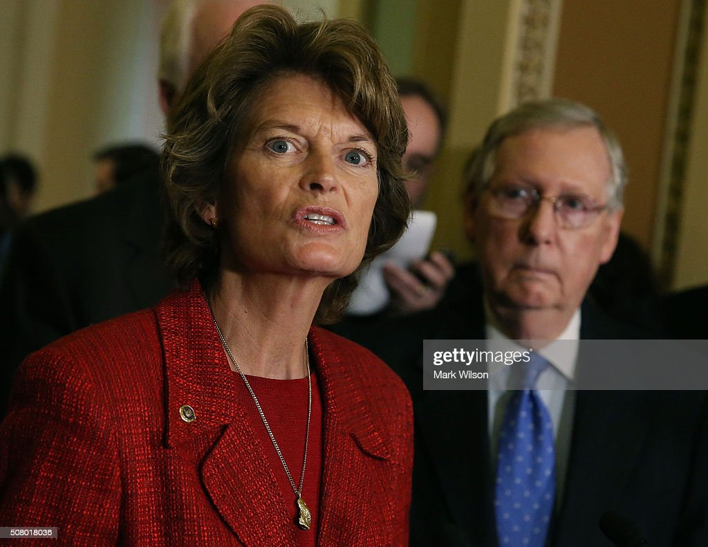 Senate Lawmakers Address The Media After Their Weekly Policy Luncheons : News Photo