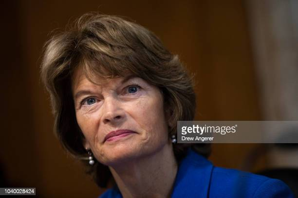 Sen. Lisa Murkowski chairs a hearing of the Senate Energy and Natural Resources Committee on Capitol Hill, September 25, 2018 in Washington, DC....