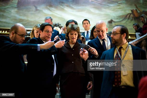 Sen Lisa Murkowski RAlaska speaks with reporters after a news conference with members of the Republican leadership Jan 20 2010