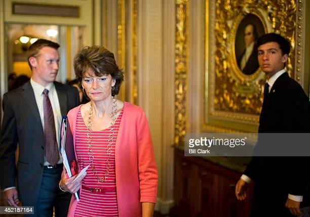 Sen Lisa Murkowski RAlaska walks to a meeting in the Senate Reception Room in the Capitol on Tuesday July 15 2014