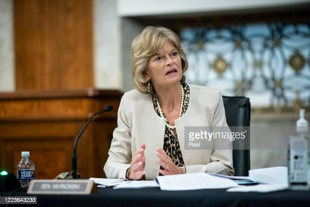 Sen. Lisa Murkowski speaks during a Senate Health, Education, Labor and Pensions Committee hearing on June 30, 2020 in Washington, DC. Top federal...