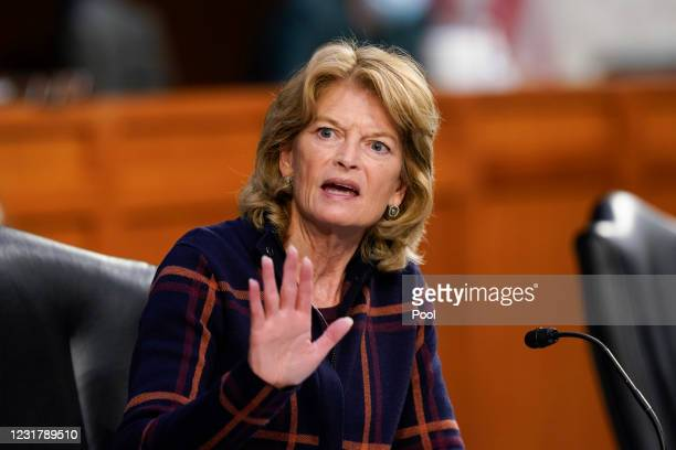 Sen. Lisa Murkowski speaks during a Senate Health, Education, Labor and Pensions Committee hearing on the federal coronavirus response on Capitol...