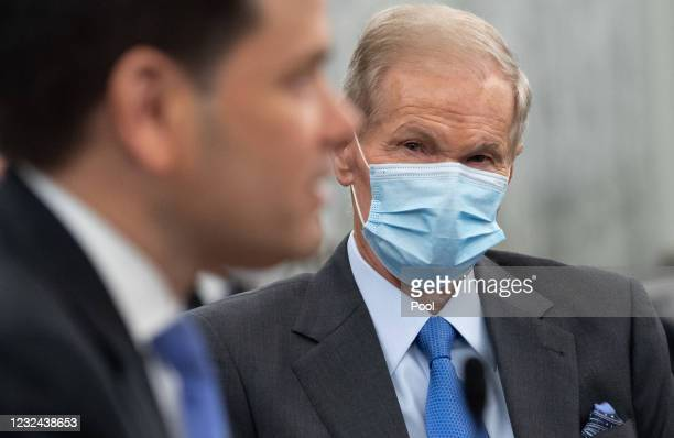 Sen. Marco Rubio introduces former US Senator Bill Nelson, nominee to be administrator of NASA, at a Senate Committee on Commerce, Science, and...