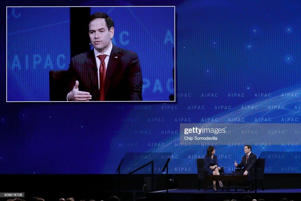 Israeli Prime Minister Benjamin Netanyahu Speaks At Washington's Annual AIPAC Conference : News Photo