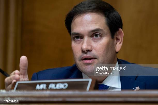 Sen Marco Rubio RFla attends the Senate Foreign Relations Committee confirmation hearing for Deputy Secretary of State John J Sullivan to be US...