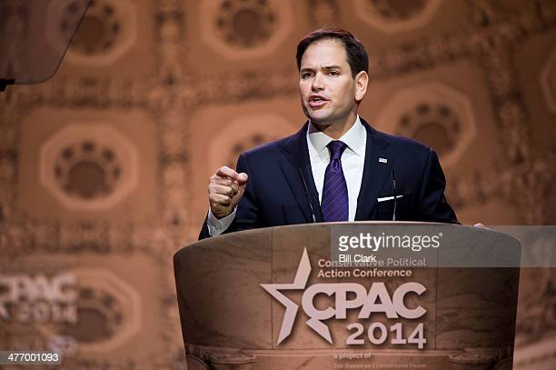 Sen. Marco Rubio, R-Fla., speaks during the American Conservative Union's Conservative Political Action Conference at National Harbor, Md., on...