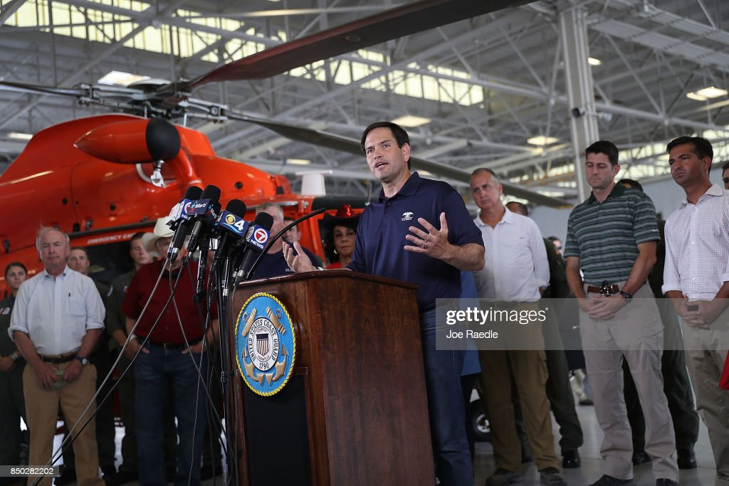 House Speaker Paul Ryan And Sen. Rubio Get Hurricane Response Update ...