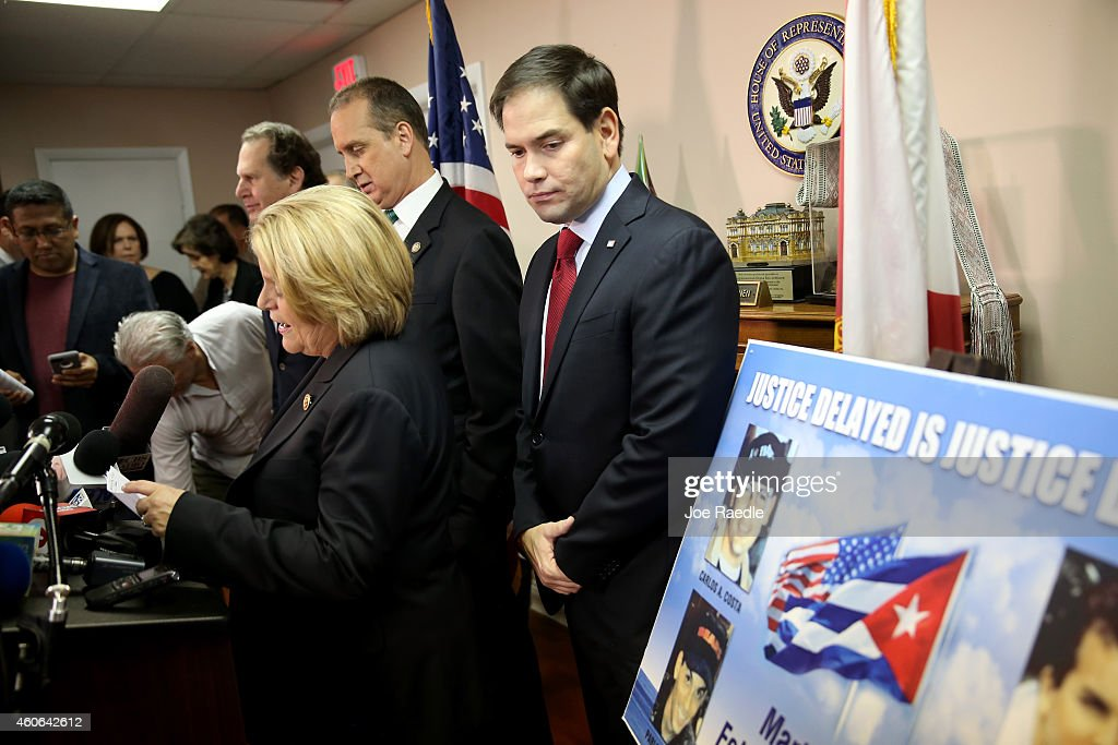 Marco Rubio, Florida Congressional Reps, Hold Press Conference On  New US-Cuba Policy