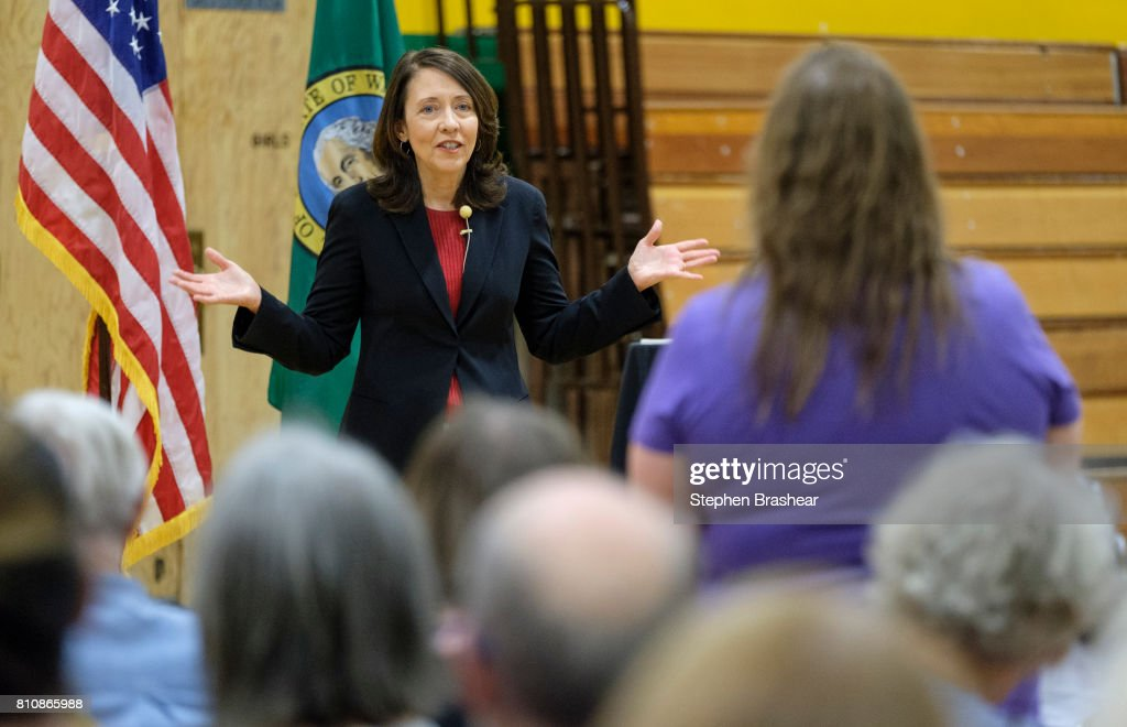 Washington Senator Maria Cantwell Holds Town Hall In Seattle