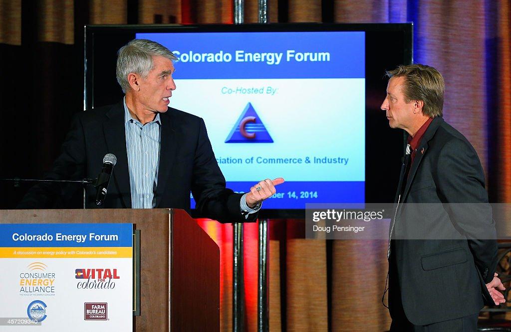 Colorado Candidates Participate In Forum On Energy Economy : News Photo