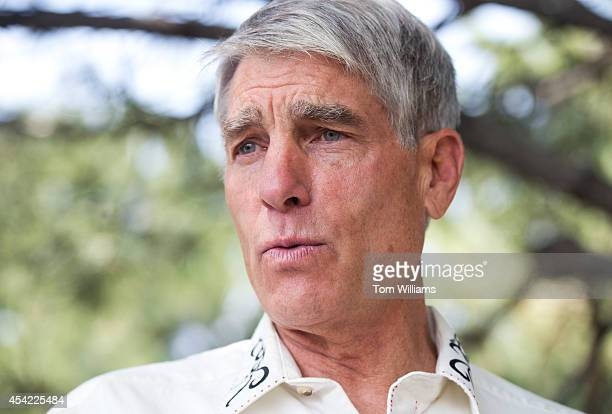 Sen. Mark Udall, D-Colo., is interviewed by Roll Call outside of a Denver Rustlers event in Greenwood Village, Colo., August 26, 2014. The event is...