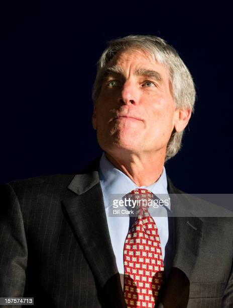 Sen Mark Udall DColo speaks during the lighting of the Capitol Christmas tree on the west front of the Capitol on Tuesday Dec 4 2012 This year's tree...