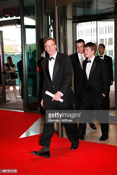 Sen Mark Warner arrives at the White House Correspondents' Association dinner on May 1 2010 in Washington DC The annual dinner featured comedian Jay...