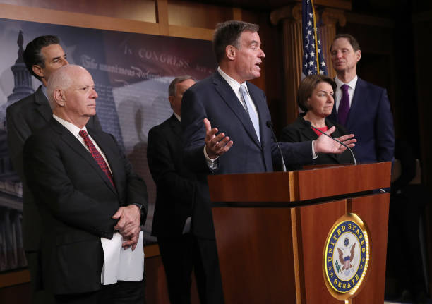 DC: Senate Democrats Hold A Press Conference On Election Security