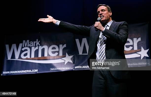 Sen Mark Warner speaks during his reelection kickoff rally May 29 2014 in Arlington Virginia Warner is likely to face former Republican National...