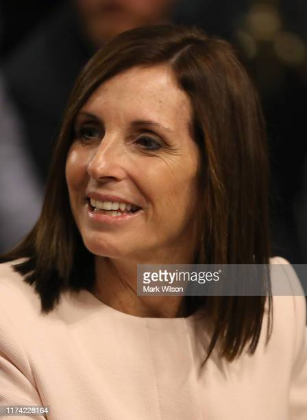 Sen Martha McSally attends the Senate Armed Services Committee confirmation hearing for Barbara M Barrett to become Secretary of the Air Force on...