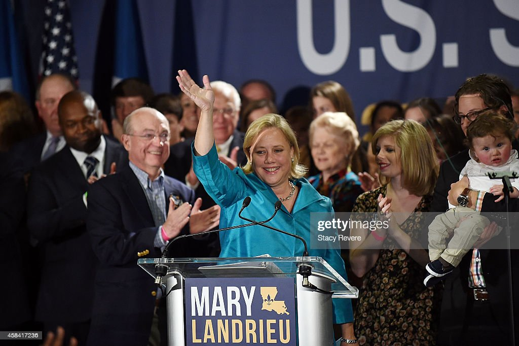 Sen. Landrieu Gathers With Supporters On Election Night In New Orleans