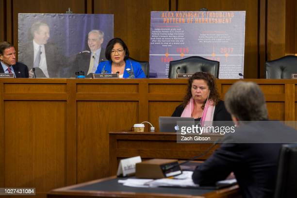 Sen Mazie Hirono questions Supreme Court Nominee Brett Kavanaugh during the second day of his Supreme Court confirmation hearing on Capitol Hill...