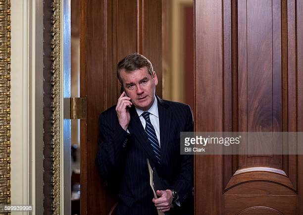 Sen Michael Bennet DColo leaves the Senate Democrats' weekly policy lunch in the Capitol on Wednesday Sept 7 2016