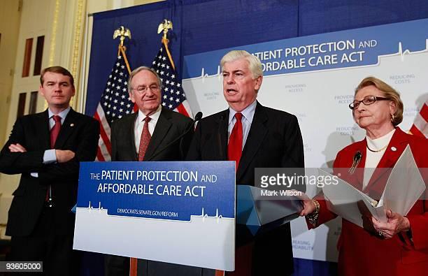 Sen Michael Bennet Sen Tom Harkin Sen Christopher Dodd and former Congresswoman Barbara Kennelly President CEO of the National Committee to Preserve...